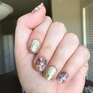 3/$10🐚 Seashell Exclusive Jamberry Nail Wrap Mani